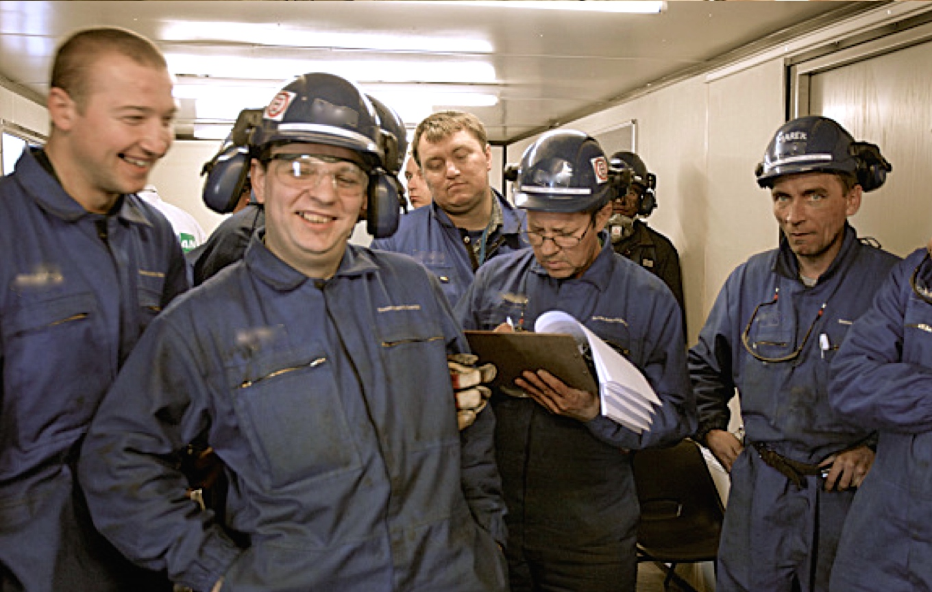 Polish welders, riggers and pipefitters supplied by Central European Staffing Cockenzie Power Station, East Lothian, Scotland, 2008