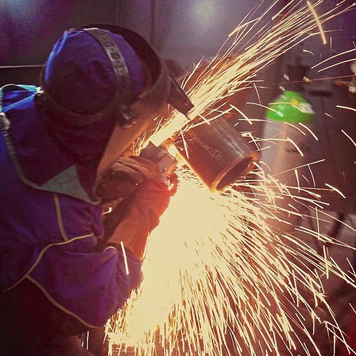 Polish TIG-welder at work